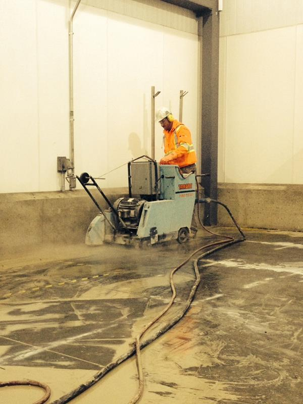 Electric Slab Sawing for Removal